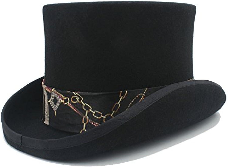 JUJIANFU-Cappello della personalit agrave  Cappello di Lana Steampunk a 4  con Coloreei con 4 Cappello Modello Nero Cappello di... Parent dda908 04078212f3c1