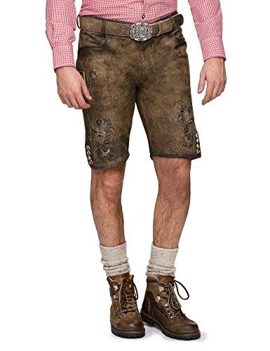 Stockerpoint Herren Trachten Lederhose Hose Alois Grau (Stein), (Amazon Kostüme Oktoberfest)