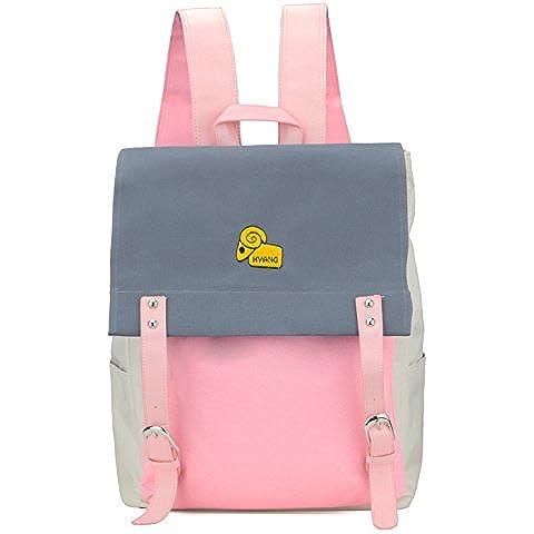 Adolescente Hombre Mujer Clasico Laptop Backpack Rucksack Mochila Escolar para Uso Diario /Escolar/Oficina/viajes/Calle/ Mochila de Senderismo