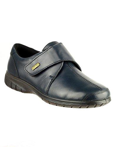 Cotswold Damen Cranham Leder Schuhe Wasserdicht Halbschuhe Klettverschluss Dunkelblau
