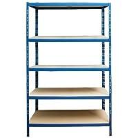 Steckregal Schwerlastregal Lagerregal Kellerregal Werkstattregal Regal 875kg - blau - Maße (HxBxT): ca. 180 x 90 x 60 cm
