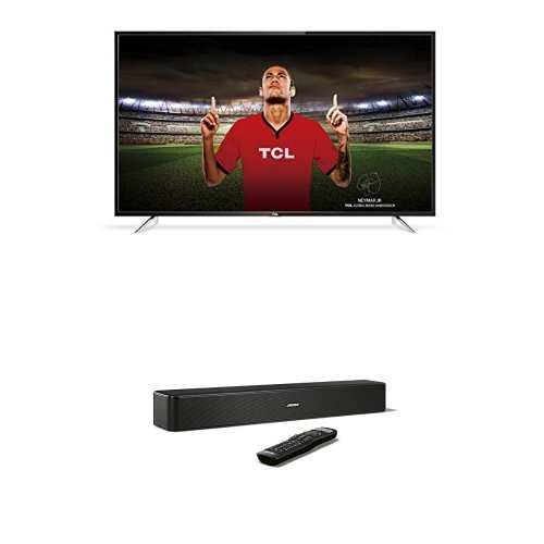 TCL 55DP608 55 Inch 4K UHD HDR TV with Smart Freeview Play  Black   Bose Solo 5 TV Soundbar System  Black