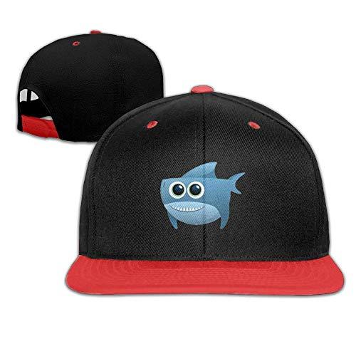 Wamnu Kid's Hip Hop Baseball Cap and Hat Boys Girl Blue Shark Headshot (Street Sharks Kostüm)