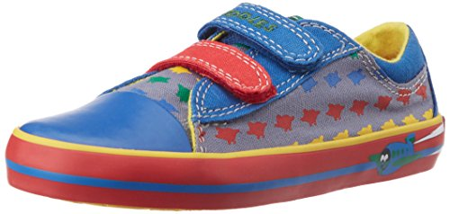 Clarks Boy's Wing Drive Denim Blue Leather Sneaker - 6.5 kids UK/India (23 EU)