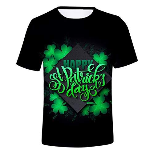 Kobay Donna Uomo ST. Patrick s Day Green Manica Corta O Collo Stampa Top  Maglietta( 983f4c571840