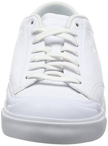 Nike Herren All Court 2 Low Leather Sneaker Weiß (White/white Black)
