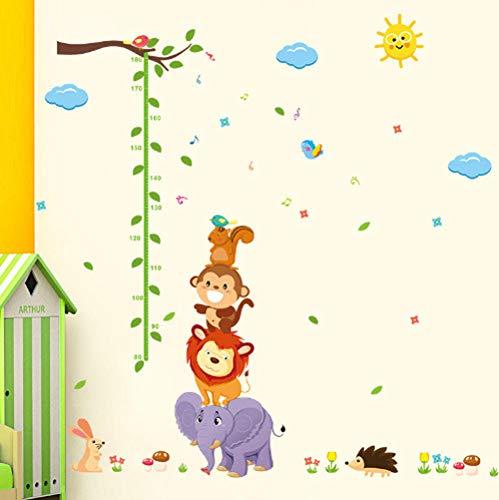 Star source Tier Monky Vogel Löwe Himmel Sonne Baum Baby Kind Höhe Maßnahme Wachstum Diagramm Abziehbild Wandaufkleber Kinderzimmer Kindergarten -