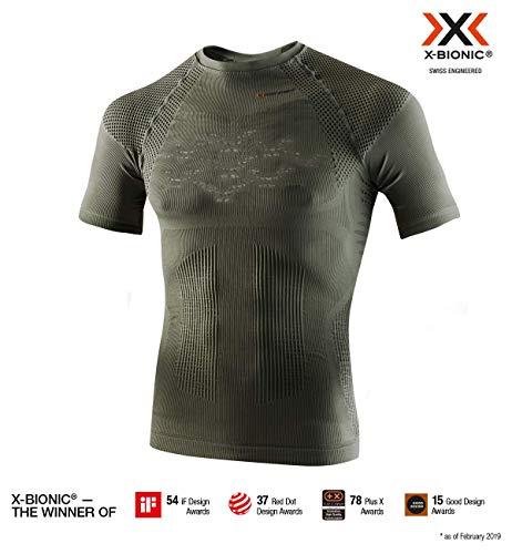 X-Bionic Herren Hunt Energizer 4.0 Light Shirt Short Sleeve Men Olive Green/Anthracite, L -