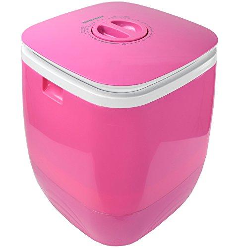 Syntrox Germany WM-150W Pink Waschmaschine mit Schleuder Campingwaschmaschine Mini Waschmaschine (Pink)