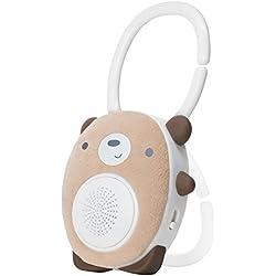 SoundBub de WavHello Altavoz Relajante para el Sueño de Bebé | Bocina de Ruido Blanco con Bluetooth | Compañero Ideal para el Descanso del Recién Nacido | Portátil, Recargable | Benji el Osito, Marrón