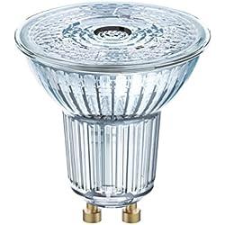 Osram LED STAR PAR16 / Spot LED, Culot GU10, 3 W, 220-240V, Angle : 36°, Blanc Froid 4000K, Lot de 1 pièce