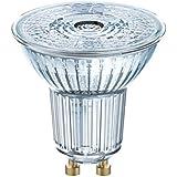 OSRAM 4058075818392 A+, LED Base PAR16 / LED-Reflektorlampe mit GU10-Sockel, Glas, 4.3 W, warmweiß, 5.5 x 5.09 x 5.09 cm