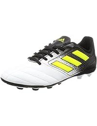 adidas Ace 17.4 FxG, Botas de fútbol Unisex niños, (Ftwbla/Amasol/Negbas), 38 EU