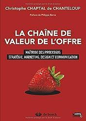 La chaîne de valeur de l'offre : Maîtrise des processus stratégie, marketing, design et communication