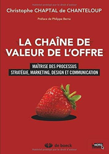 La chaîne de valeur de l'offre : Maîtrise des processus stratégie, marketing, design et communication par Christophe Chaptal de Chanteloup