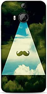 Snoogg Hipster Sky Mustache Designer Protective Back Case Cover For Htc One M...