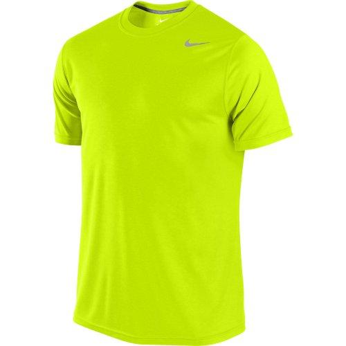 Nike Legend Poly SS Tee–Maglietta a maniche corte per uomo Giallo/verde lime/argento