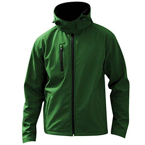 Result Core Herren Softshell Jacke Lite mit Kapuze Schwarz/Grau