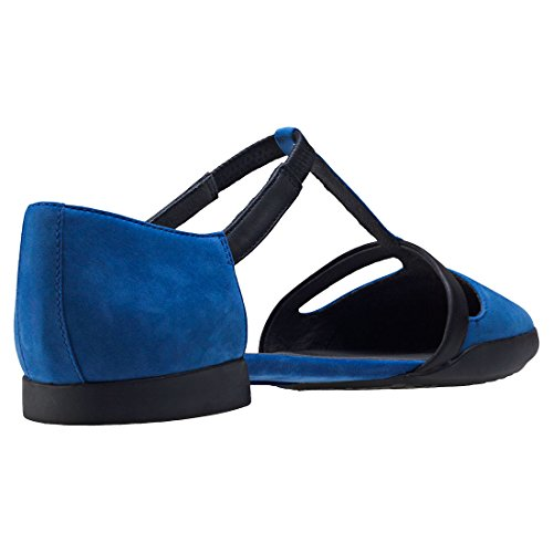 Camper Casi casi K200448-002 Flache schuhe Damen Blue Black