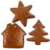 Lebkuchen Rohlinge als Set, je 5x Stern, Tannenbaum und Nikolaus Schuh - Ein Spaß für Jung und Alt bietet die Selbst Verzierung, wunderbar als Baumschmuck