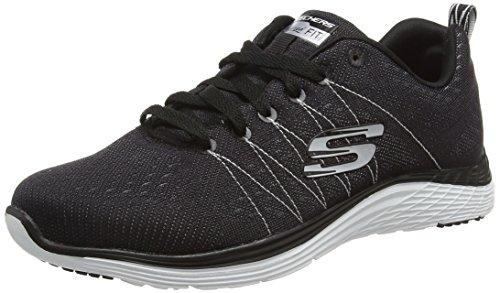 Skechers (SKEES) 12224 - Scarpe da Ginnastica Basse Donna, colore Nero (BKW), taglia 38