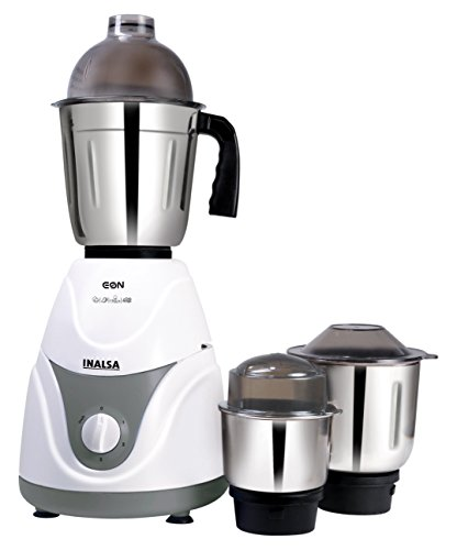 Inalsa Eon 550-Watt Mixer Grinder with 3 Jars (White/Grey)  available at amazon for Rs.1888