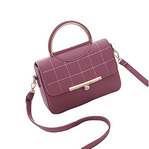 Damen Wilde Umhängetasche Mode Handtasche Kleine Quadratische Tasche Messenger Bag Einfache Atmosphäre Elegant Red2