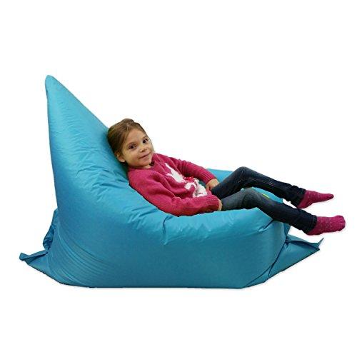 Kinder-Sitzsack, groß, 6-Wege-Lounger, riesiger Kindersitzsack für draußen, Blaugrün AQUA-Blau,...