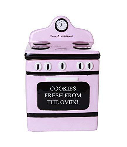 Pacific Giftware Retro Ofen Freshly Baked Keramik Cookie Jar mit Luftdichte Deckel 20,3cm hoch -