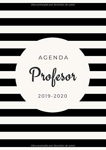 Agenda Profesor 2019-2020: Agenda Escolar para Maestros | Tamaño A4 | Organiza Tu Trabajo Dia a Dia