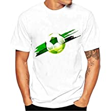 KaloryWee Men Football Print Tees Shirt Short Sleeve T Shirt Blouse Mothers Day Gifts