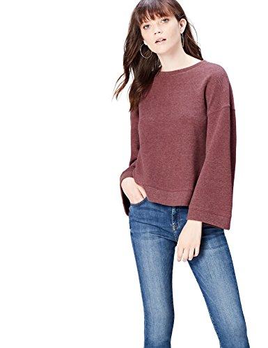FIND Damen Soft-Touch Sweatshirt Rot (Tawny Port), 34 (Herstellergröße: X-Small) (Soft-pullover)