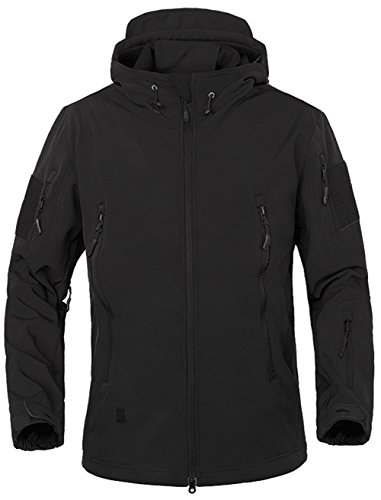 TACVASEN Military Waterproof Men's Softshell Fleece Jacket Combat Outdoor Coat with hood 10 Colors Test