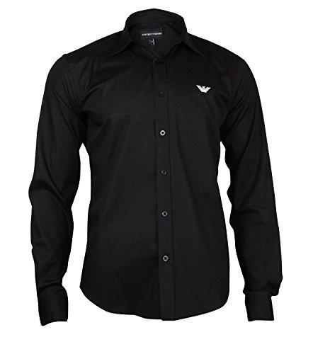 emporio-armani-mens-plain-long-sleevecasual-shirt-black-black-black-black-x-large