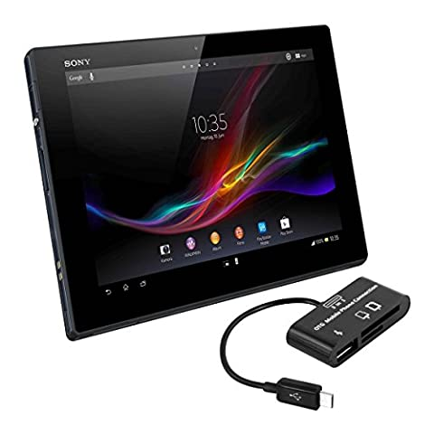 kwmobile 3in1 Micro USB OTG Kabel Adapter für Sony Xperia Tablet Z - Card Reader Tablet Kartenleser Anschluss für USB 2.0 / SD Karte / Micro SD Karte in (Sony Xperia Z3 Micro Sd Card)
