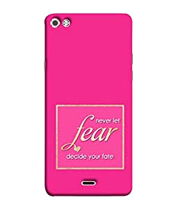 Fuson Designer Back Case Cover for Micromax Canvas Sliver 5 Q450 :: Silver Q450 (Fear Fate Wordings Sayings Box Windows)