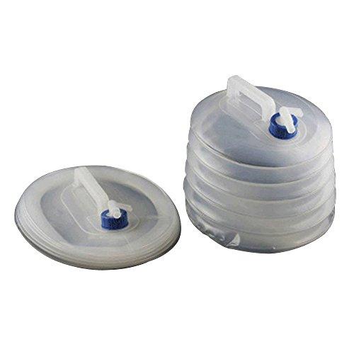 Faltkanister faltbarer Wassertank, Aohro Tragbarer PE Wasserkanister Wassertank Wasserbeutel,5 Liter mit Hahn in verschiedenen Größen Camping Outdoor Faltkanister Trinkwasser(5L)