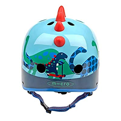 Micro Childrens Safety Helmet: Scootersaurus 3D Small 48-52Cm Dinosaur Pattern Boys Nursery Scooting Bike by Micro