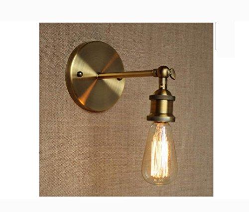Weiting loft sconto illuminazione parete del metallo oro lampada parete lampada per atelier bagno