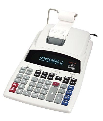 Genie 2045 PD Druckender Tischrechner (Netzteil, 12-stelliger Rechner mit rot und schwarz Druck, VF Display) (Druck-rechner Schwarz)