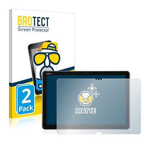 BROTECT Entspiegelungs-Schutzfolie kompatibel mit Huawei MediaPad M5 Lite 10.1 (2 Stück) - Anti-Reflex, Matt
