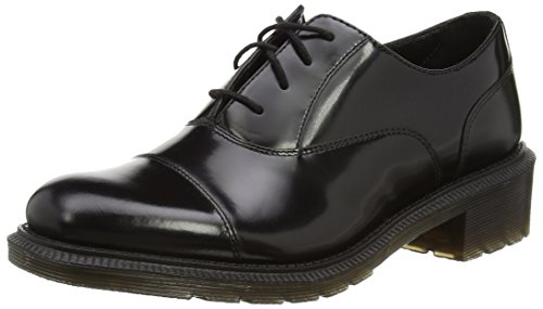 Dr. Martens Henrietta Pol. Smooth Black, Chaussures Oxford Femme