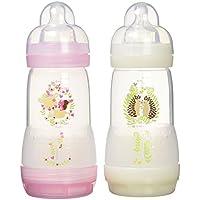 Mam - Biberones anticólico para bebé (de 0 a 6 meses, 2 unidades, 260 ml)