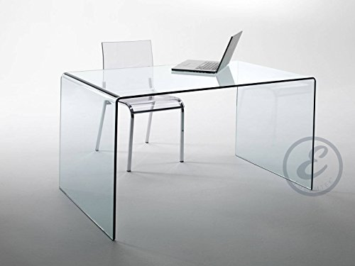 Scrivania Ufficio Vetro : Scrivania scrittoio da ufficio in vetro temperato curvato luxury