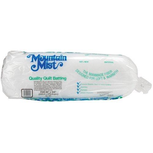 Mountain Mist Polyester Quilt Batting, Queen 90-inch-by-108-inch by Mountain Mist Batting (Quilt Queen Batting)