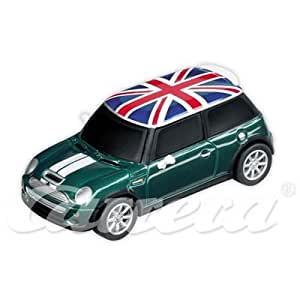 carrera Go!!! - voitures pour circuit - 1/43 eme analogique - Go!!! Mini Cooper S, British Racing Green