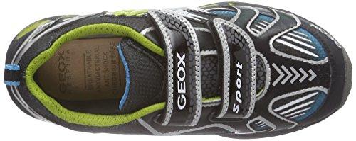Geox Shuttle B A, Baskets Basses Garçon Multicolore (Black/Lime C0802)