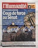 HUMANITE (L') [No 20504] du 22/10/2010 - GENEVIEVE FRAISSE / ENTRETIEN - FUITE EN...