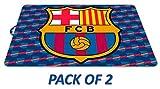 Fußball-Team FC Barcelona Set aus 2 Tischdecken aus Kunststoff