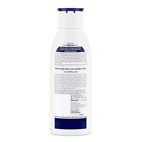 Nivea Body Lotion Whitening Even Tone UV Protect, All Skin Types (200ml)